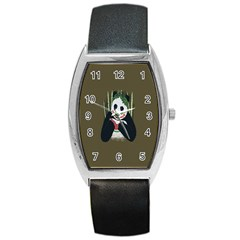 Simple Joker Panda Bears Barrel Style Metal Watch