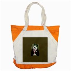 Simple Joker Panda Bears Accent Tote Bag