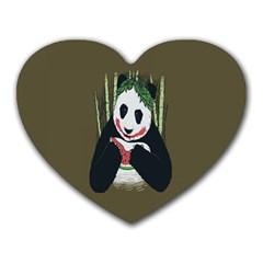 Simple Joker Panda Bears Heart Mousepads