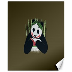 Simple Joker Panda Bears Canvas 11  x 14