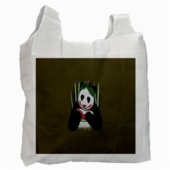 Simple Joker Panda Bears Recycle Bag (Two Side)