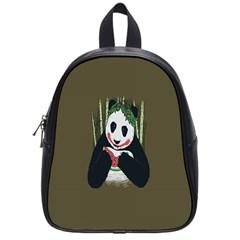 Simple Joker Panda Bears School Bags (Small)
