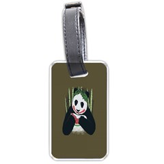 Simple Joker Panda Bears Luggage Tags (Two Sides)