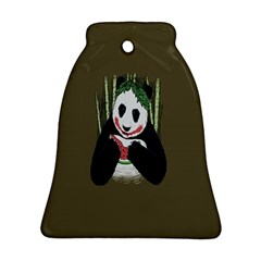 Simple Joker Panda Bears Ornament (Bell)