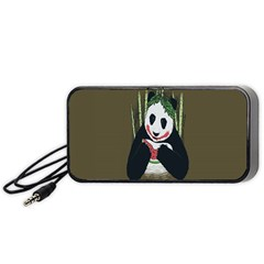 Simple Joker Panda Bears Portable Speaker (Black)