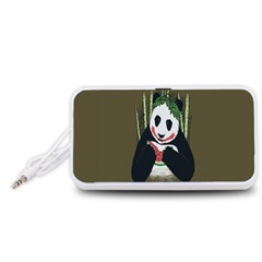 Simple Joker Panda Bears Portable Speaker (White)