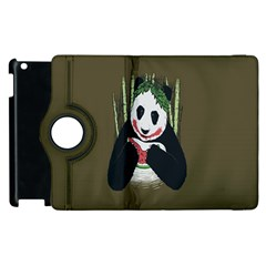 Simple Joker Panda Bears Apple iPad 2 Flip 360 Case