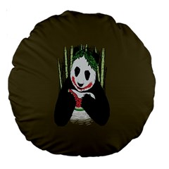Simple Joker Panda Bears Large 18  Premium Round Cushions