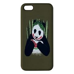 Simple Joker Panda Bears Apple iPhone 5 Premium Hardshell Case