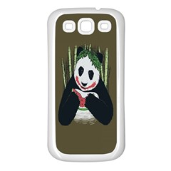 Simple Joker Panda Bears Samsung Galaxy S3 Back Case (White)