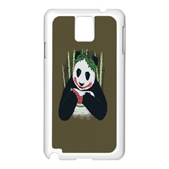 Simple Joker Panda Bears Samsung Galaxy Note 3 N9005 Case (White)
