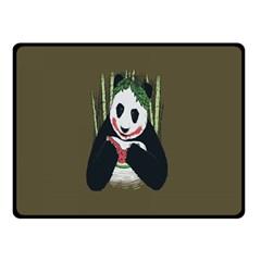Simple Joker Panda Bears Double Sided Fleece Blanket (Small)