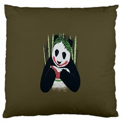 Simple Joker Panda Bears Large Flano Cushion Case (Two Sides)