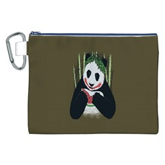 Simple Joker Panda Bears Canvas Cosmetic Bag (XXL)