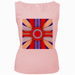 Round Color Copy Women s Pink Tank Top