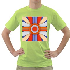 Round Color Copy Green T-Shirt