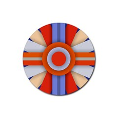 Round Color Copy Rubber Round Coaster (4 pack)
