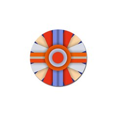 Round Color Copy Golf Ball Marker (4 pack)