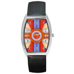Round Color Copy Barrel Style Metal Watch