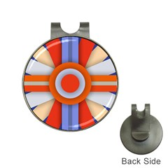 Round Color Copy Hat Clips with Golf Markers