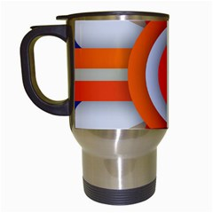 Round Color Copy Travel Mugs (White)