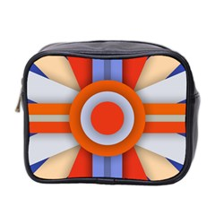 Round Color Copy Mini Toiletries Bag 2-Side