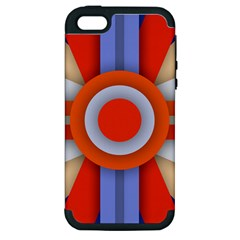 Round Color Copy Apple iPhone 5 Hardshell Case (PC+Silicone)