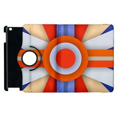 Round Color Copy Apple iPad 3/4 Flip 360 Case