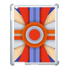 Round Color Copy Apple iPad 3/4 Case (White)