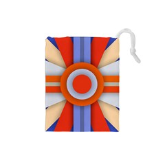 Round Color Copy Drawstring Pouches (Small)