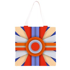 Round Color Copy Grocery Light Tote Bag