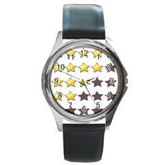 Star Rating Copy Round Metal Watch