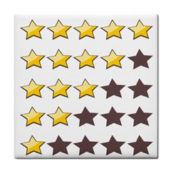 Star Rating Copy Tile Coasters