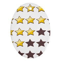 Star Rating Copy Ornament (Oval)