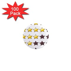 Star Rating Copy 1  Mini Magnets (100 pack)