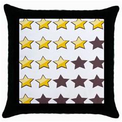 Star Rating Copy Throw Pillow Case (Black)