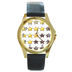 Star Rating Copy Round Gold Metal Watch