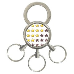 Star Rating Copy 3-Ring Key Chains