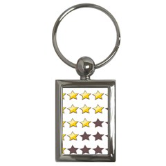 Star Rating Copy Key Chains (Rectangle)