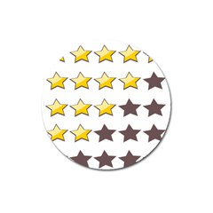 Star Rating Copy Magnet 3  (Round)
