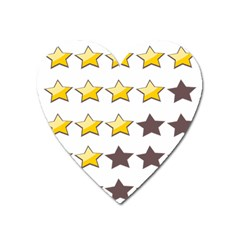 Star Rating Copy Heart Magnet