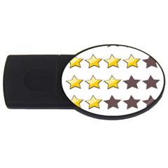 Star Rating Copy USB Flash Drive Oval (1 GB)