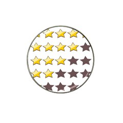 Star Rating Copy Hat Clip Ball Marker (4 pack)