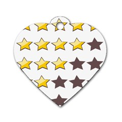 Star Rating Copy Dog Tag Heart (Two Sides)