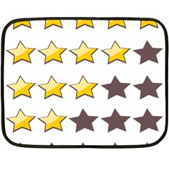 Star Rating Copy Double Sided Fleece Blanket (Mini)