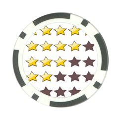 Star Rating Copy Poker Chip Card Guards (10 pack)