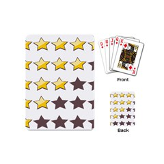 Star Rating Copy Playing Cards (Mini)