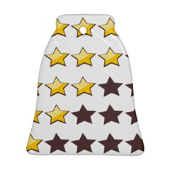 Star Rating Copy Bell Ornament (2 Sides)