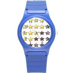 Star Rating Copy Round Plastic Sport Watch (S)