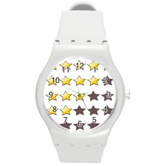 Star Rating Copy Round Plastic Sport Watch (M)